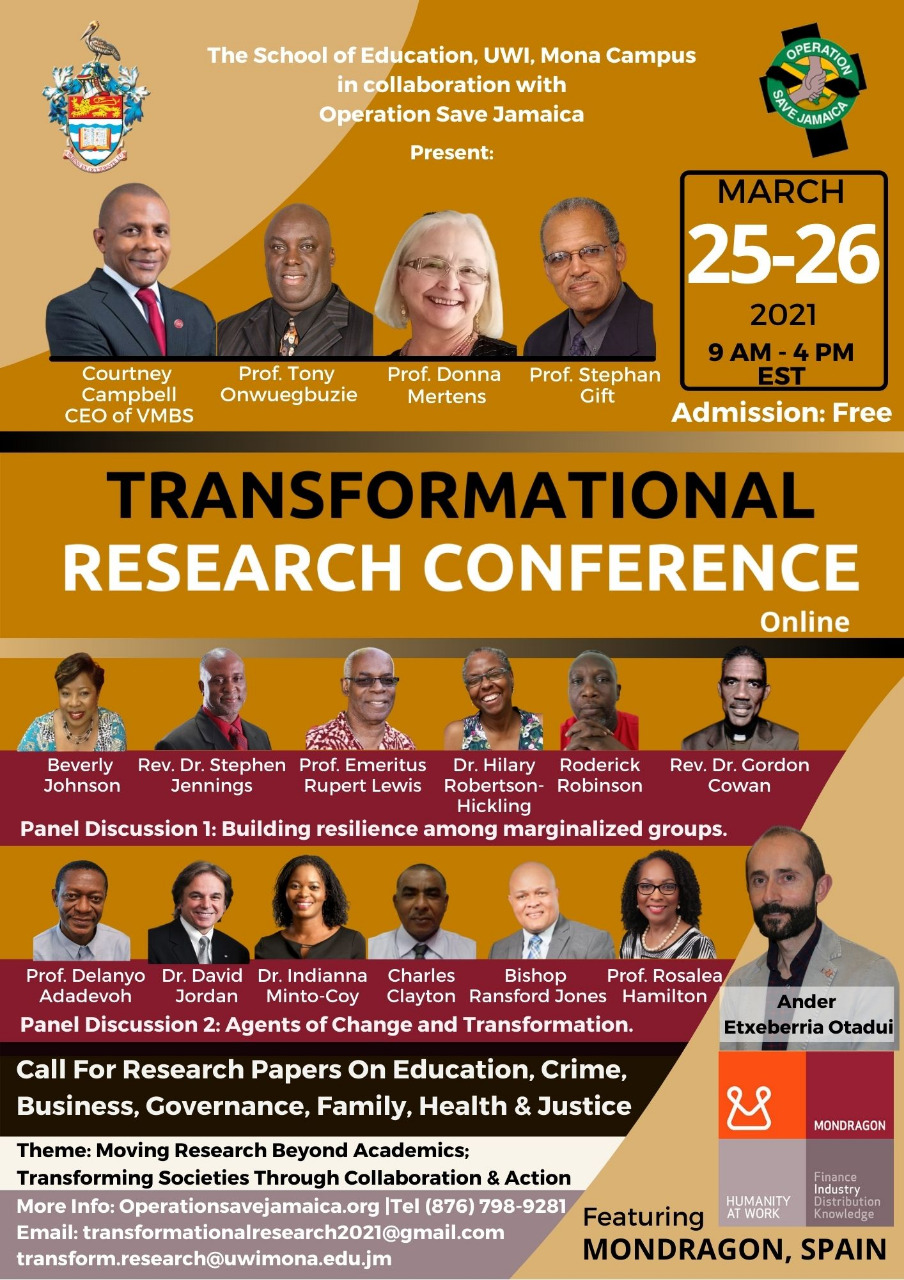 Transformation Research Conference 2021 Event Flyer